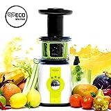 Cecotec C04036 Licuadora para frutas y verduras de prensado en frío, extractor de jugo, 150 W, 0.8 litros, plástico, Acero, Gris...