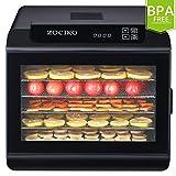 zociko Deshidratador de Alimentos, Máquina Deshidratadora de Alimentos con 6 bandejas de Acero Inoxidable, Preservador Eléctrico...