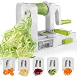 Sedhoom Espiralizador de Vegetales Cortador de Verduras de 5 Cuchillas,Doblado Espiralizador de verduras en Espiral, Juliana,...