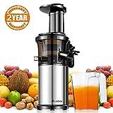 Aobosi Slow Juicer Licuadora para Fruta y Verdura de Prensado en Frio Extractor de Jugos para Fruta Entera con Baja Velocidad de...