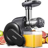 Licuadora Prensado en Frio, Aicok Licuadoras Para Verduras y Frutas con Función inversa, con Motor Silencioso, Limpieza Fácil...