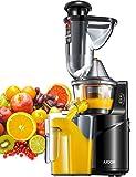 Licuadora Prensado Frío, Aicok Licuadoras Para Verduras y Frutas con Boca Ancha de 75MM, extractor de zumos con Función inversa,...