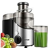 Licuadoras Para Verduras y Frutas, Aicook 3 Velocidades Licuadora Prensado Frio Extractor de Zumos Boca Ancha de 65mm, Extractor...