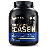 Optimum Nutrition Gold Standard Casein, Proteinas de Caseina en Polvo con BCAA Aminoacidos Esenciales, Zinc y Magnesio en Polvo,...