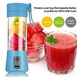 TOOGOO 380ml Vaso Botella de licuadora Recargable USB Batidora de citricos de Jugo Exprimidores de batido de Leche Fruta Verduras...