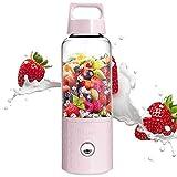 Umiwe Licuadora portátil, 500 ml USB Juicer Cup, Fruta, batido, Mezcla de Alimentos para bebés con Motor Potente (Rosado)