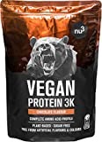 Batidos de proteínas veganas - Proteína vegetal 3K en polvo - de 3 componentes vegetales (guisante, girasol & arroz) - 1 Kg...