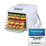 Deshidratador de alimentos BioChef Arizona Sol - 6 Bandejas Acero Inoxidable, 500W, Temporizador, Temperatura 35-70º,...