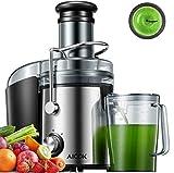 AICOK Licuadoras para Verduras y Frutas 800W Licuadoras para Zumos Centrífugo, 75mm Boca Ancha y Multi-Velocidades, Base...