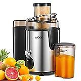 Aicok Licuadoras Para Verduras y Frutas Acero Inoxidable, 3 Velocidades Licuadora Prensado Frio Extractor de Zumos Boca Ancha de...