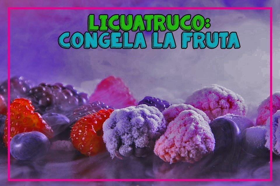 Utiliza fruta congelada en tus recetas para licuadoras