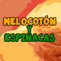 batido melocotón y espinacas