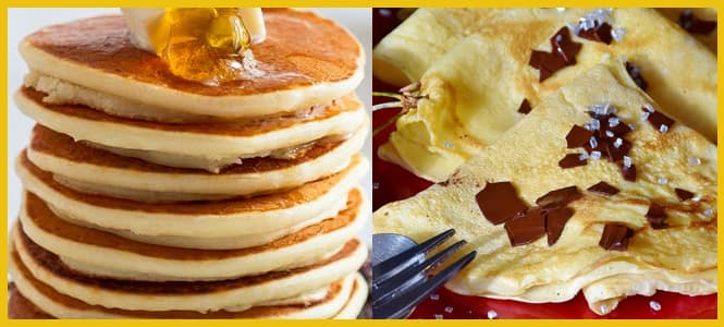 diferencias crep y pancake