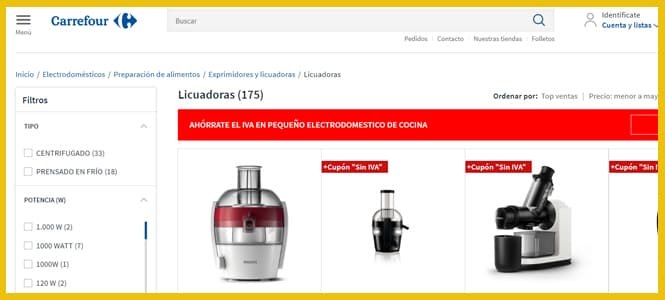 Las mejores licuadoras de Carrefour