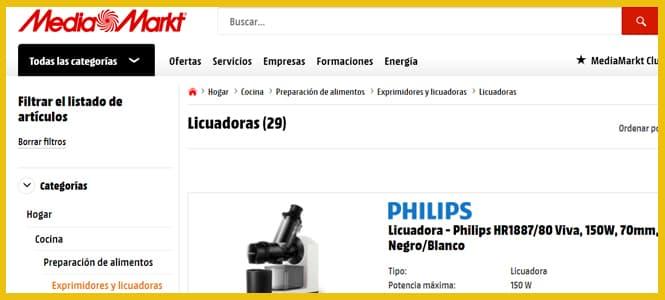 Ofertas en Licuadoras al mejor precio MediaMarkt