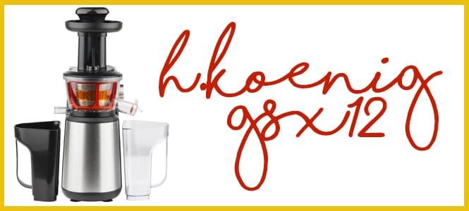 H.Koenig GSX 12 Licuadora para Frutas y Verduras